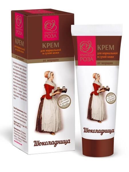 Крем для лица «Шоколадница» - Для нормальной и сухой кожи