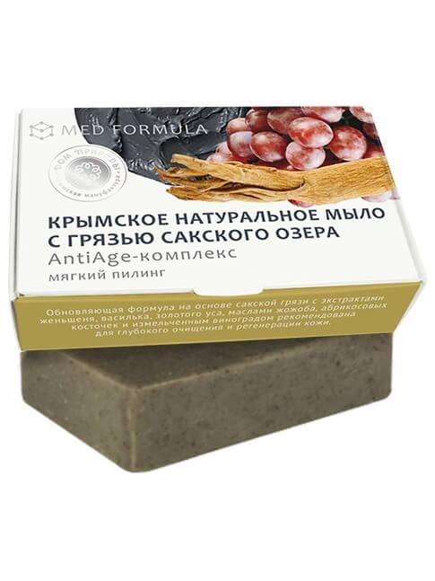 Крымское мыло натуральное с грязью Сакского озера «AntiAge-комплекс»