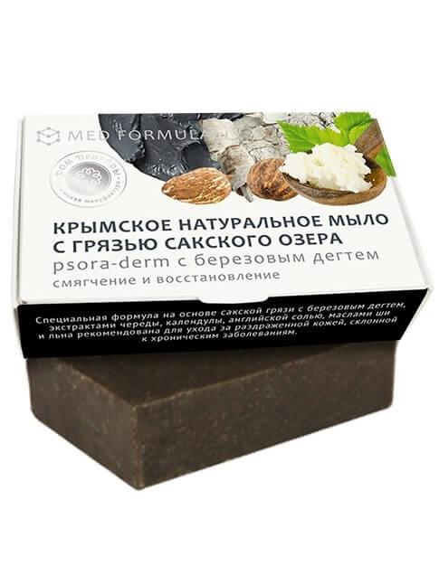 Крымское мыло натуральное с грязью Сакского озера «Psora-derm»