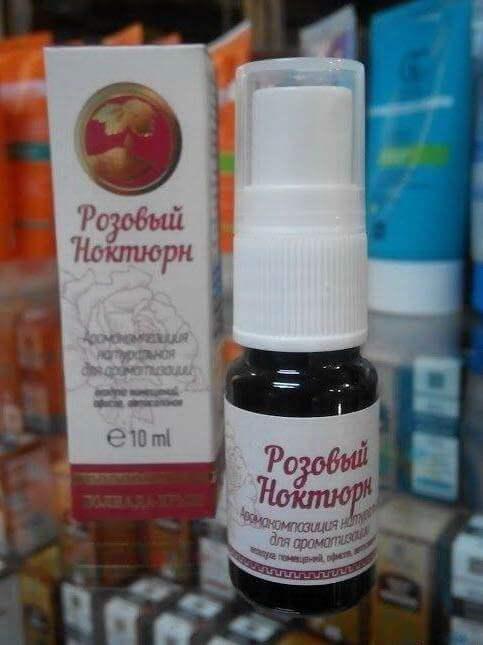 Аромакомпозиция-спрей с эфирными маслами «Розовый ноктюрн»