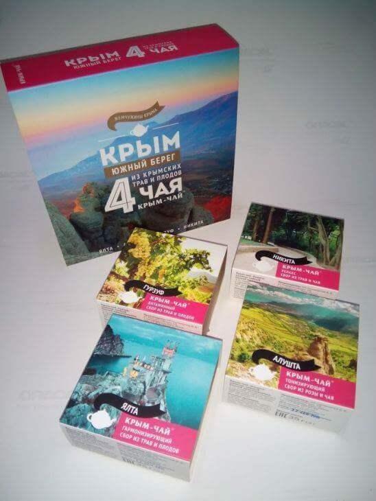 Набор из 4-х сборов из трав и плодов «Крым - Южный берег»