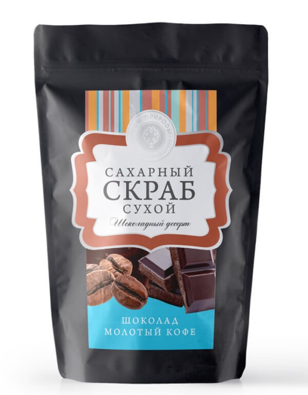Сухой сахарный скраб «Шоколадный десерт»