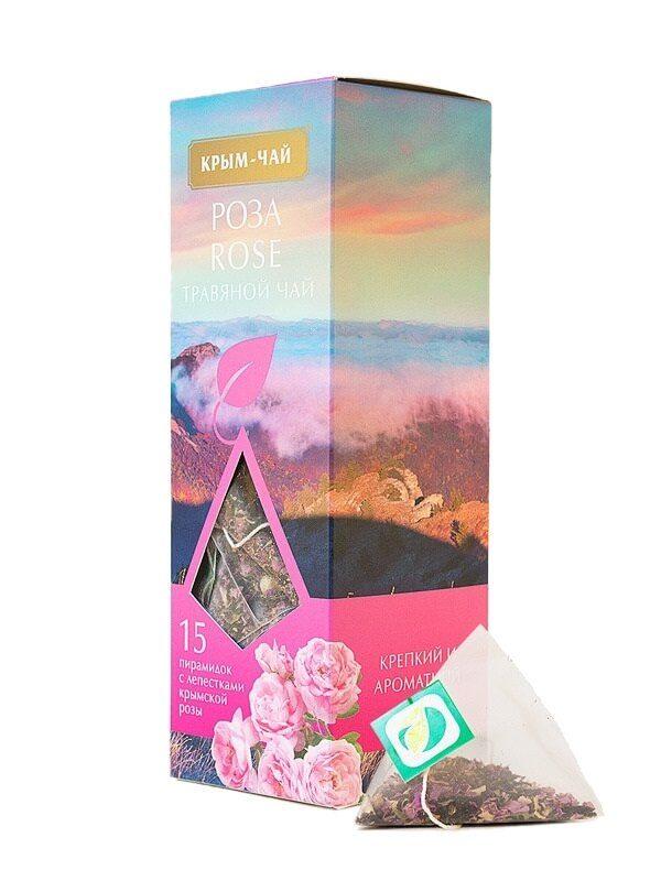 Травяной чай в пирамидках «Роза»