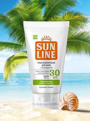 Крем косметический «SunLine» - Для загара SPF30
