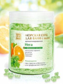 Морская соль для ванн ароматизированная «Нега»