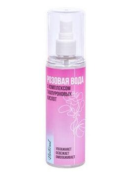 Розовая вода с комплексом гиалуроновых кислот