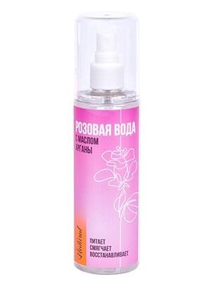 Розовая вода с маслом арганы