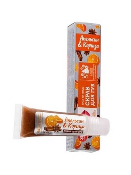 Скраб для губ «Апельсин и корица»