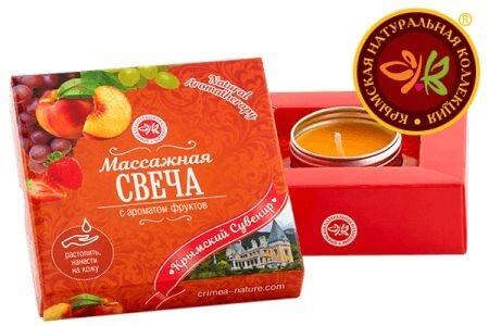 Массажная свеча с ароматом фруктов