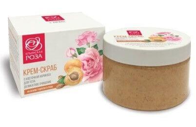 Крем-скраб для тела с косточкой абрикоса
