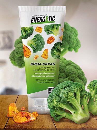 Крем-скраб «Energetic» - Для нормальной и чувствительной кожи