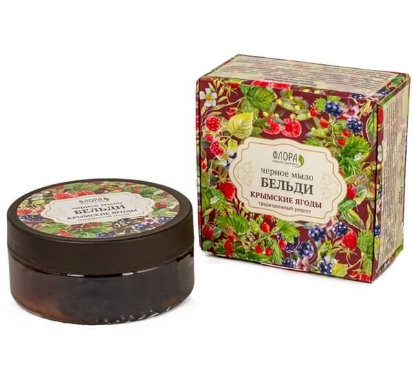 Черное мыло бельди «Крымские ягоды»