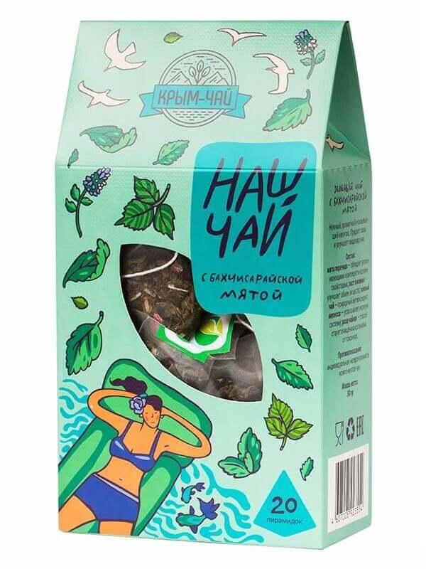 Травяной чай в пирамидках «С бахчисарайской мятой»