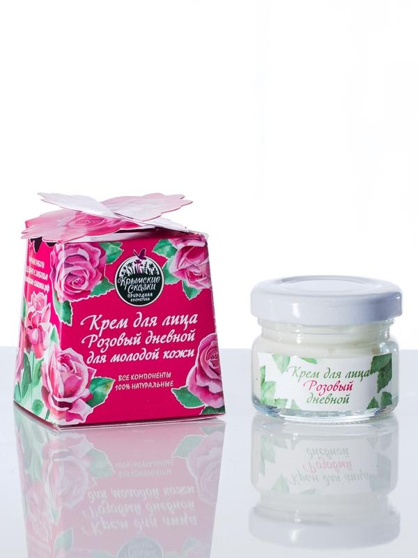 Крем для лица для молодой кожи «Розовый дневной»