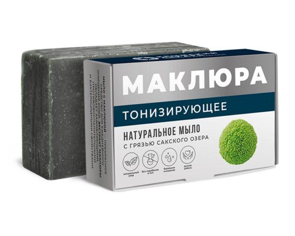 Натуральное мыло с грязью Сакского озера «Маклюра» - Тонизирующее