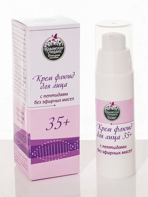 Крем-флюид для лица с пептидами, без эфирных масел 35+