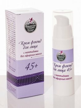 Крем-флюид для лица с пептидами, без эфирных масел 45+
