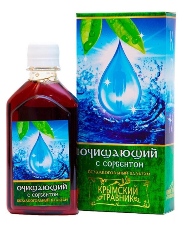 Бальзам безалкогольный на травах с сорбентом «Очищающий»